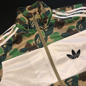Adidas x Bape Camo Firebird Jacket